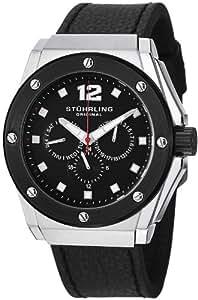 Stuhrling Original Men's 469.33151 Special Reserve Apocalypse Midnight Quartz Multi-Function Black Leather Strap Watch