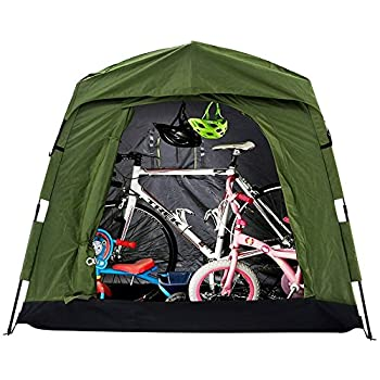 Quictent Pop Up Automatic Rod Bracket Heavy Duty Bike Tent Storage Shed with Anti-UV Protection Hood