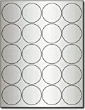 "Silver Foil 2"" Round Labels for Laser Printers - 10 Sheets / 200 Labels"
