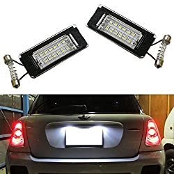 See iJDMTOY OEM Fit Xenon White LED License Plate Lamps For 2006-2014 2nd Gen MINI Cooper R56 R57 R58 R59 Details