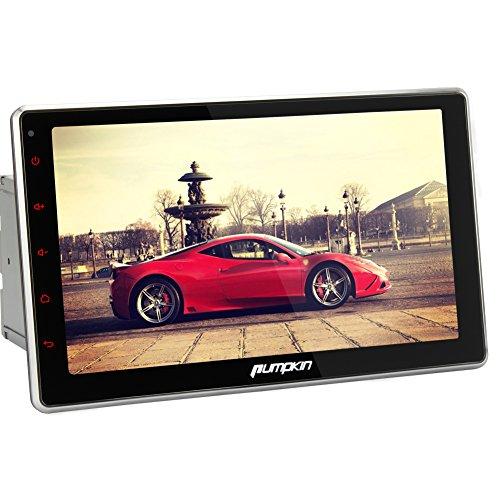 Pumpkin 10.1インチ Android 4.4 クアッドコア 1.6GHz タッチパネル 2DIN ナビ DVDプレーヤー 1024x600 Bluetooth Wifi OBD2対応 角度調節可能 (C0256)