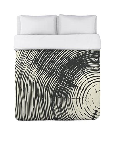 One Bella Casa Tree Rings Duvet Cover