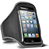 Fone-Case HTC One X+ Adjustable Sports Fitness Jogging Arm Band Case (Grey)