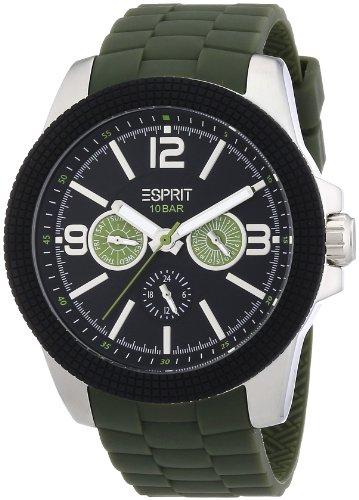 Esprit A.ES105831002 - Reloj analógico de cuarzo para hombre con correa de plástico, color verde
