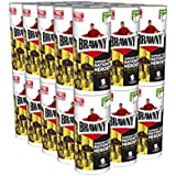 Brawny Individually Wrapped Regular Paper Towels Rolls, White, 30 Count
