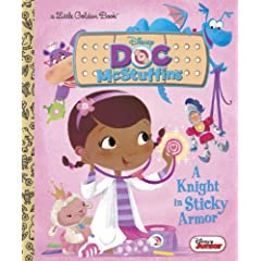A Knight in Sticky Armor (Disney Junior: Doc McStuffins) (Little Golden Book)