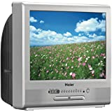 Haier TCR13 13-Inch CRT TV/DVD Combination with ATSC Tuner (Silver) ~ Haier America