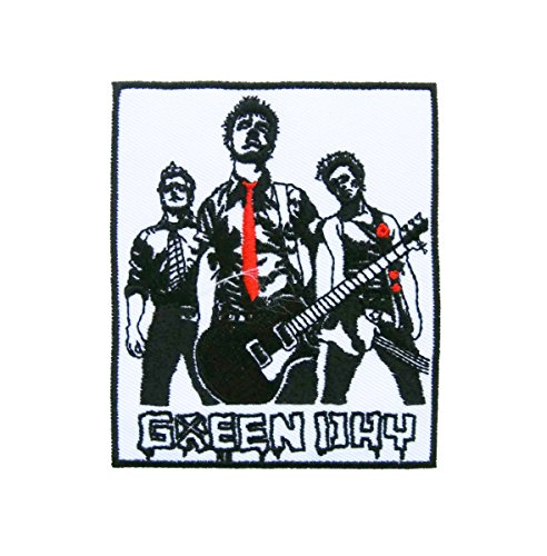 Green Day American Punk Rock Music Band Logo (A03) Applique Embroidered Iron on Patch