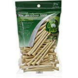 JEF World Of Golf 718 3-1/4 Inch Bamboo Golf Tees (100 Pack), Natural