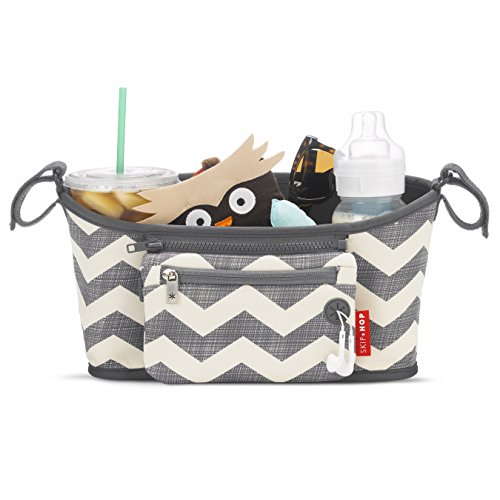 skip-hop-grab-and-go-attachable-neoprene-stroller-organizer-and-cup-holder-with-detachable-wristlet-