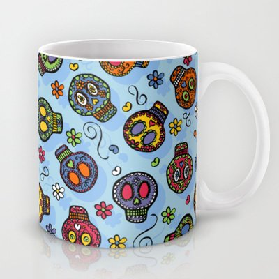 Society6 - Sugar Skulls Coffee Mug By Karapeters