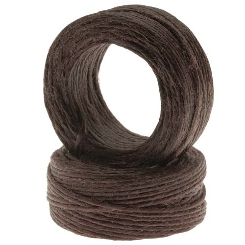 Waxed Irish Linen Necklace or Knotting Cord 1mm Brown - 10 Yards