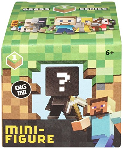Mattel: Minecraft Grass 1 Series - Mini-Figur: Mystery Pack (Sortimentsartikel) [UK Import]