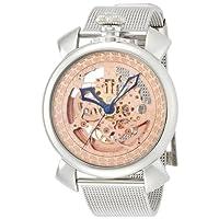 [ブルッキアーナ]BROOKIANA フルスケルトン エングレービング装飾 腕時計 機械式(自動巻) BA4102-PGSS