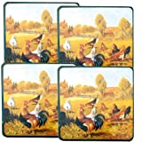 Reston Lloyd Gas Burner Covers Set of 4 Rooster