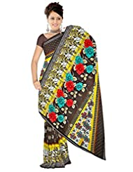 Anand Sarees Faux Georgette Self Print Saree - B013SYSDB2