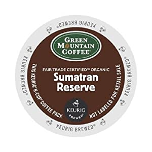 Green Mountain Coffee Fair Trade Organic Sumatran Reserve, K-Cup for Keurig Brewers from Green Mountain Coffee
