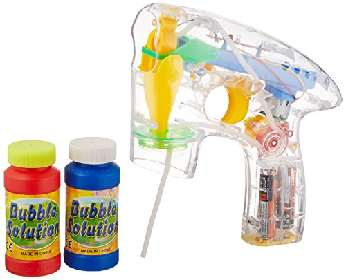 Rhode Island Novelty Transparent Light-Up Bubble Blaster Gun, 7""