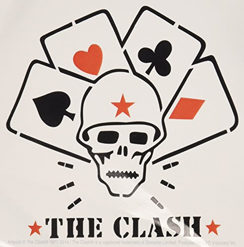C&D Visionary The Clash Skull and Cards Sticker