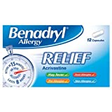 Benadryl Allergy Relief 12 Capsules - Pack of 6