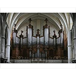 Photographic Print of Organ in St. Andrew s cathedral, Bordeaux, Gironde, Aquitaine, France