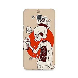 Mobicture Cartoon Skull Premium Printed Case For Samsung J7