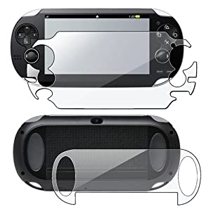 eForCity® 2 packs of Reusable Screen Protectors Compatible With Sony PlayStation Vita PCH-1000 (PS Vita)