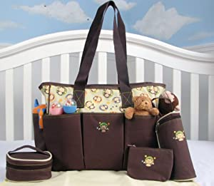 SOHO Curious Monkey 5 in 1 Deluxe Diaper Bag *Limited time offer*