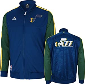 Utah Jazz adidas Home Weekend 2012-2013 Authentic On-Court Jacket - Navy by adidas