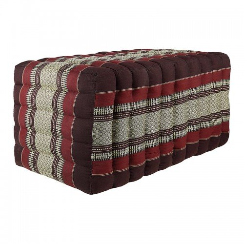 Hand-made Thai Oblong Seat Footrest Pouffe - L Series Long Beach 40x40x80cm Thai_0925