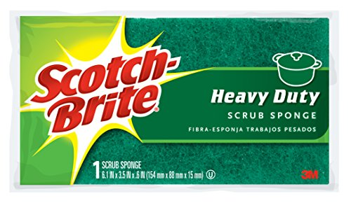 Scotch-Brite Scrub Sponge, Heavy Duty, 1-Count (Pack of 6) (Sponge Scrubber Heavy Duty compare prices)