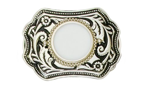 Silver Tone-plated Silver Tone Dollar Holder Belt Buckle