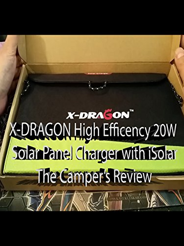 X-DRAGON High Efficency 20W Solar Power Panel Charger with iSolar Review