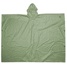 CLC Rain Wear R10420 .10MM PVC Poncho - Green Large