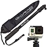 GoRad-Gear-Selfie-Stick-for-GoPro-Hero-Cameras-Waterproof-Pole-Extends-17-40-Inches-Aluminum-Tripod-Mount-and-Thumb-Screw-Nylon-Carry-Bag-black
