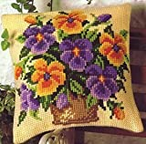 Pansy Bowl Cushion Front Chunky Cross Stitch Kit