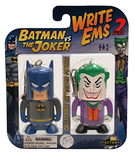 Factory Entertainment DC Write Ems (2-Pack), Batman/Joker