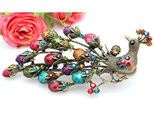 [Bling2Bling Retro and Ethnic Style Hairdress Peacock and Phoenix Shape Hairpin Ladies Girls Hairpin The Classical Palace Style Hairl Clip Antique Duckbill Clip] (Phoenix Costume Diy)
