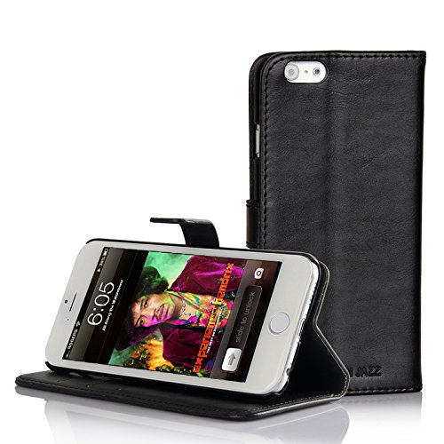 COWHIDE-CUBA-BUSINESS-Hlle-fr-Apple-iPhone-6-6s-Tasche-im-speziellen-Design-sehr-robust-mit-Hinstell-und-Hinlegefunktion-Kartenfcher-und-Geldfach-in-Schwarz-Von-Cowhide-European-Jazz-Hamburg