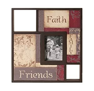 Wilco Imports Wooden Frame Faith Family and Friends