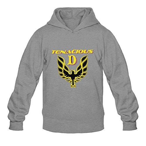 XIULUAN Men's Tenacious D Logo Hoodies XL Dark Grey (Tenacious D The Last In Line compare prices)