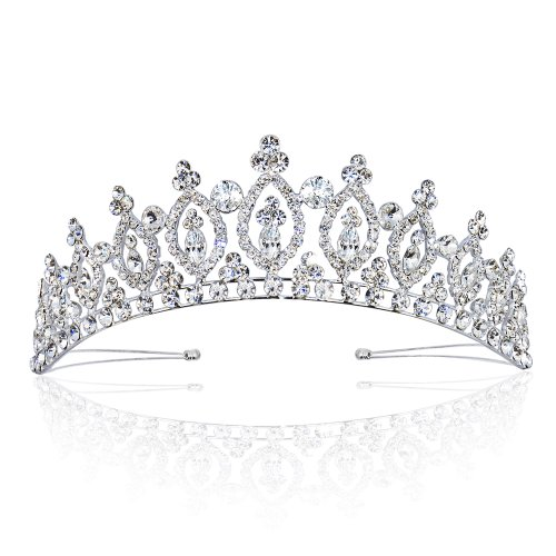 Wedding Tiara Crown Royal Marquise Rhinestone