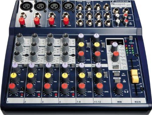 Soundcraft Notepad124FX 4-input Audio Mixer