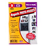 Set Of 5 Freez-A-Frame Magnetic 4 X 6 Photo Frame. Made In USA