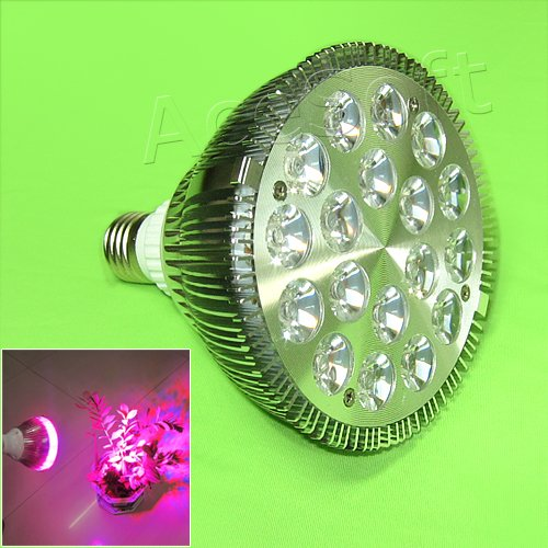 110V 18 Led 3W E27 12Red & 6Blue Plant Led Grow Light Lamp Bulb 54W E27 For Hydroponic Garden Greenhouse