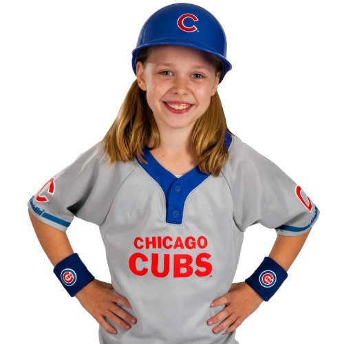 [Franklin Sports MLB Chicago Cubs Youth Team Uniform Set] (Cubs Fan Costume)