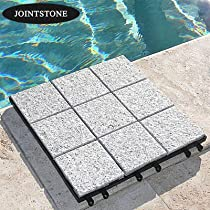 "Hot Sale Set of 6 Interlocking Decktiles (Bright-Gray) (1""H x 11.75""W x 11.75""D)"