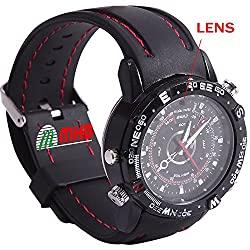 M MHB Wrist watch Hidden audio/video Recording. While recording no light Flashes. Sports Wrist Watch Camera Inbuild 16gb Memory .Original Brand Only Sold by M MHB.