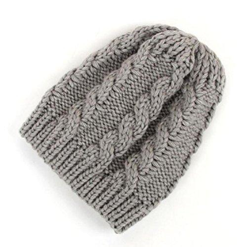Baby Hat,Leegor Newborn Infant Knitting rosette Wool Twist Hat Soft Cap (Gray) Crochet Baby Booties Free