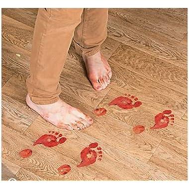 1 X Bloody Footprints Floor Clings